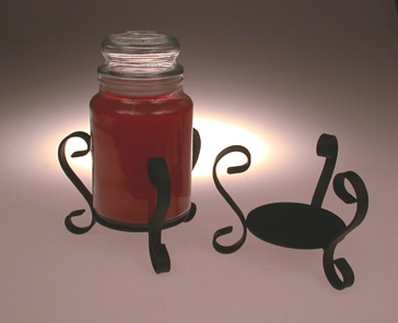 candle holder, jar candle holder, wrought iron candle holder