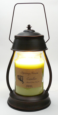 aurora candle lamp