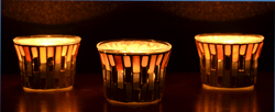 tea light candle holder glass