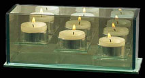 tea light candle holder triple