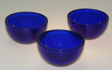 blue glass cup, tea light holders