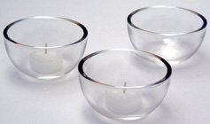 tea light holders, clear glass tea light holder