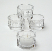 tea light cup, clear glass tea candle holder