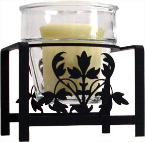 votive holder, wrought iron votive holder